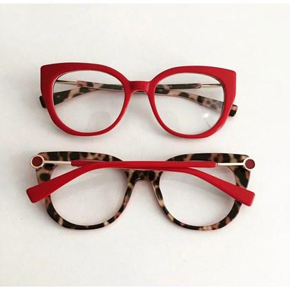 Armação de óculos de grau - Magali 2102 - Vermelho