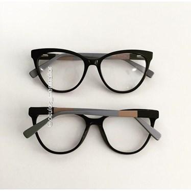 Armação de óculos de grau - Majuh - Preto C1