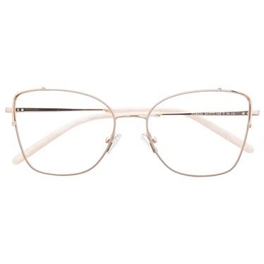 Armação de óculos de grau - Maldivas - Creme C6