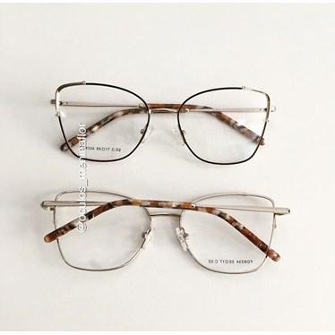 Armação de óculos de grau - Maldivas - Preto haste madre pérola marrom C2