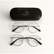 Armação de óculos de grau - Malévola - Rose com prata