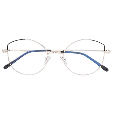 Armação de óculos de grau - Malévola Two - Prata com preto