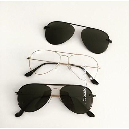 Armação de óculos de grau - Malibu - Dourado