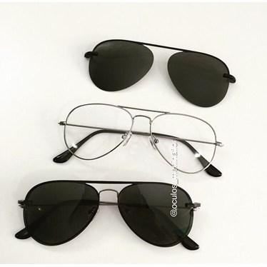 Armação de óculos de grau - Malibu - Grafite