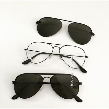 Armação de óculos de grau - Malibu - Preto