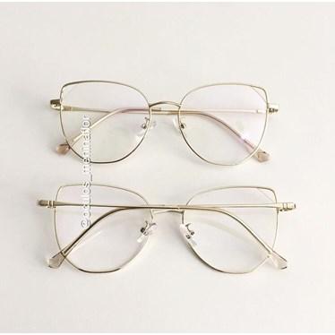 Armação de óculos de grau - Malvina - Dourado