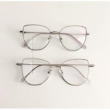 Armação de óculos de grau - Malvina - Prata
