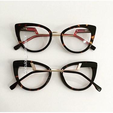 Armação de óculos de grau - Manie Marrie - Animal print