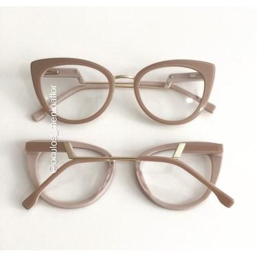 Armação de óculos de grau - Manie Marrie - Nude Chocolate
