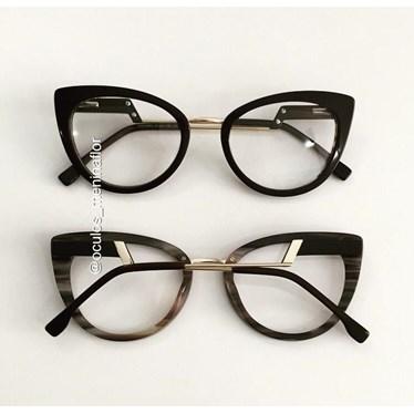 Armação de óculos de grau - Manie Marrie - Preto fundo mesclado
