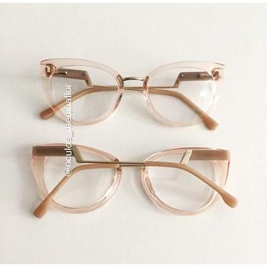 Armação de óculos de grau - Manie Marrie - Rose transparencia