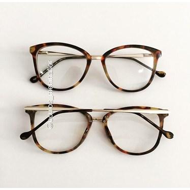 Armação de óculos de grau - Manu - Animal print