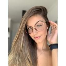 Armação de óculos de grau - Manu - Dourado transparente