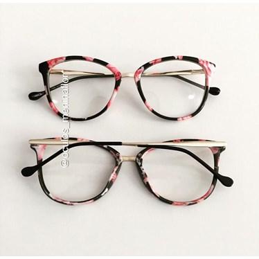 Armação de óculos de grau - Manu - Floral