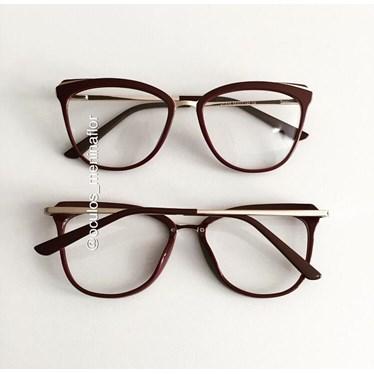 Armação de óculos de grau - Manu Two - Vinho