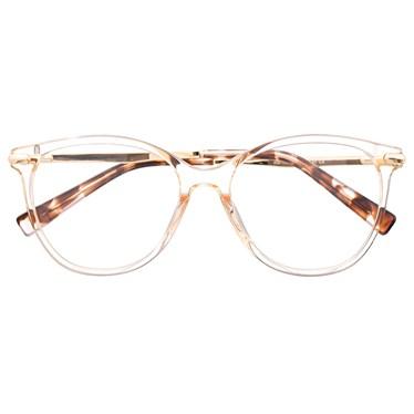 Armação de óculos de grau - Manuela 10067 - Dourado transparente