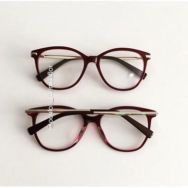 Armação de óculos de grau - Manuela 10067 - Vinho