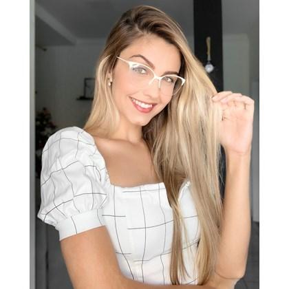Armação de óculos de grau - Manuzita 2.0 - Creme