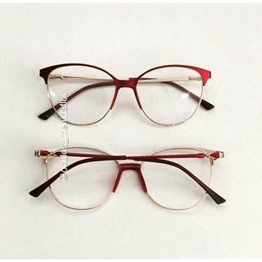 Armação de óculos de grau - Manuzita - Bordo