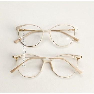 Armação de óculos de grau - Manuzita - Creme