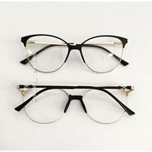 Armação de óculos de grau - Manuzita - Preto com dourado