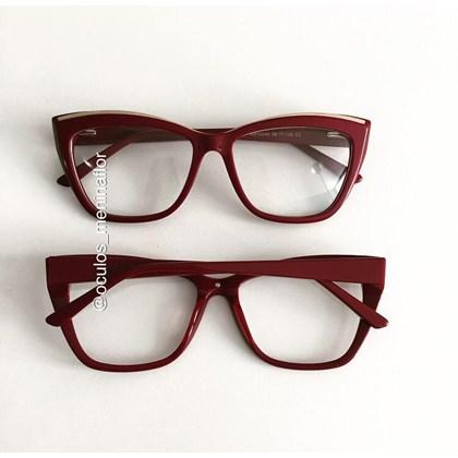 Armação de óculos de grau - Maressa - Vinho