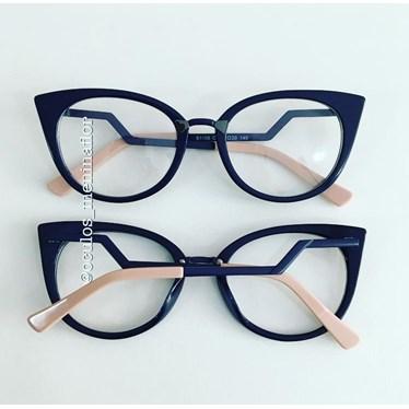 Armação de óculos de grau - Marrie - Azul marinho