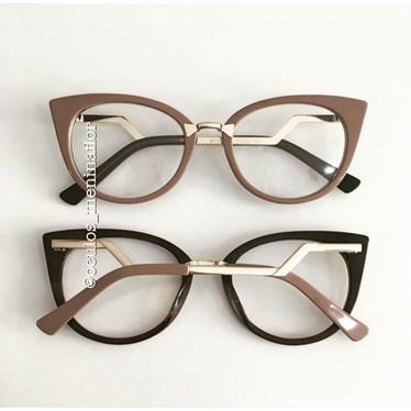 Armação de óculos de grau - Marrie - Nude chocolate