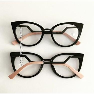 Armação de óculos de grau - Marrie - Preto