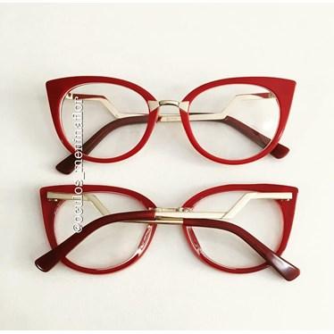 Armação de óculos de grau - Marrie - Vermelho
