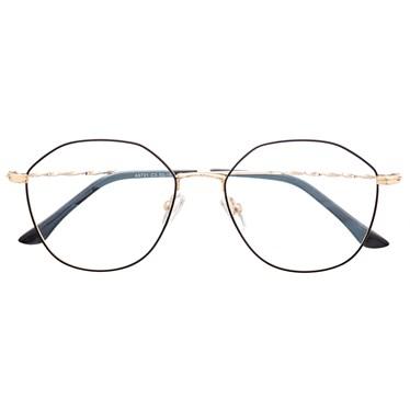 Armação de óculos de grau - Marselha 9721 - Preto com dourado