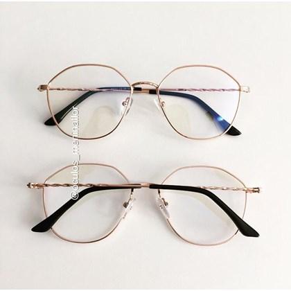 Armação de óculos de grau - Marselha 9721 - Rose Gold