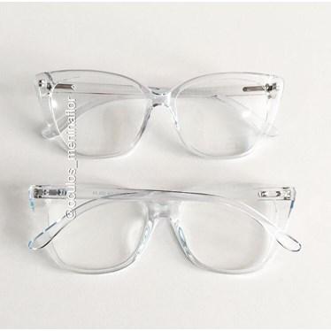 Armação de óculos de grau - Maud - Azul transparência