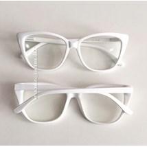 Armação de óculos de grau - Maud - Branco