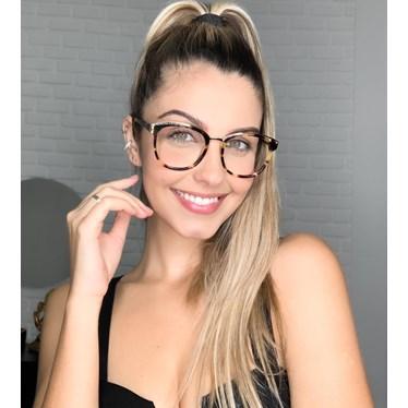 Armação de óculos de grau - Megan - Animal Print