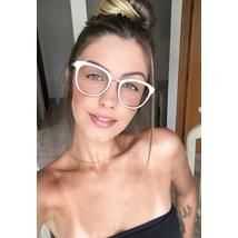 Armação de óculos de grau - Megan - Branco