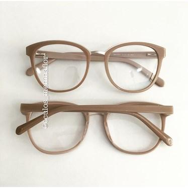 Armação de óculos de grau - Megan - Nude Chocolate