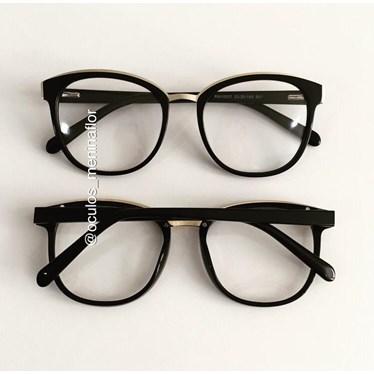 Armação de óculos de grau - Megan - Preto