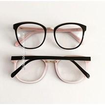 Armação de óculos de grau - Megan - Preto fundo rosa