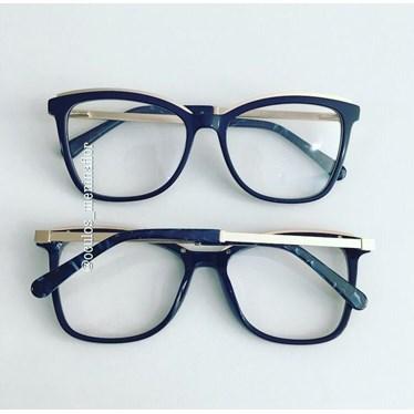 Armação de óculos de grau - Megan Two - Azul