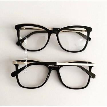 Armação de óculos de grau  - Megan Two - Preto