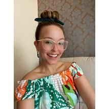 Armação de óculos de grau - Megan Two - Rose transparência