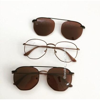 Armação de óculos de grau - Melanie 3.0 - Bronze lente marrom