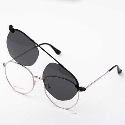 Armação de óculos de grau - Melanie 3.0 - Prata C3