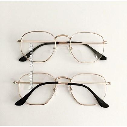 Armação de óculos de grau - Melanie - Dourado
