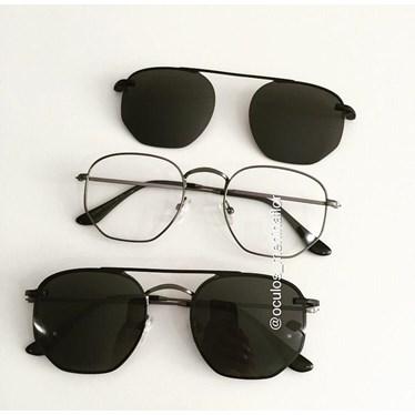Armação de óculos de grau - Melanie - Grafite