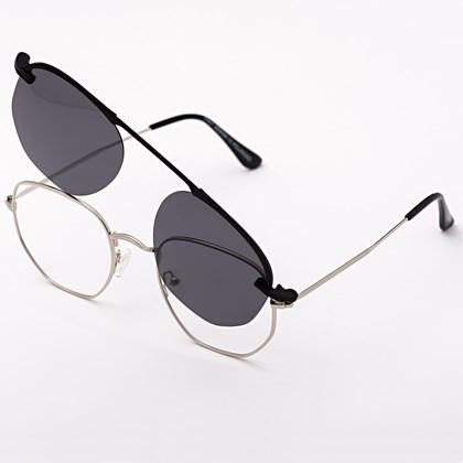 Armação de óculos de grau - Melanie - Prata