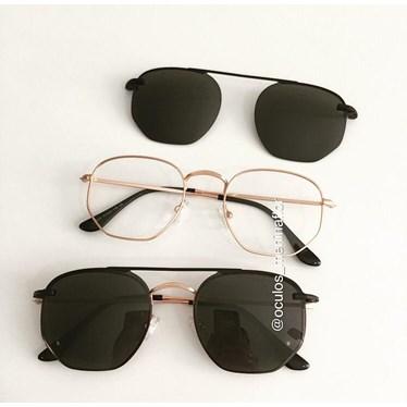 Armação de óculos de grau - Melanie - Rose Gold