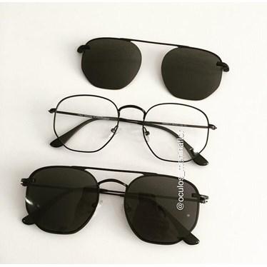 Armação de óculos de grau - Melanie Two - Preto