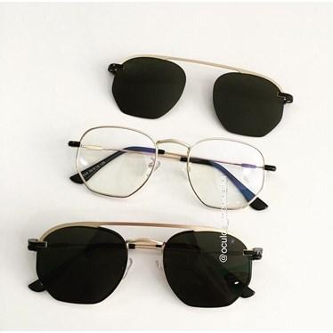 Armação de óculos de grau - Melanie versão 2.0 - Dourado